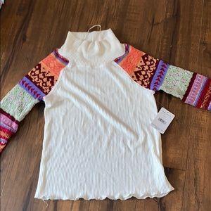Free People Prism Swit Sweater Shirt